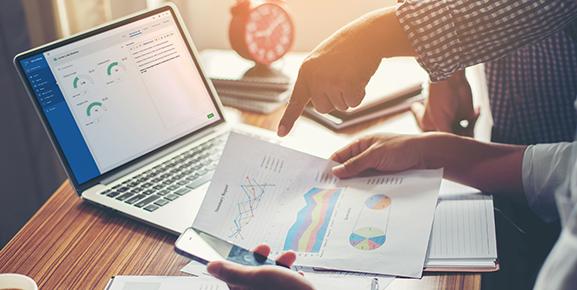 Um software de gestão de projetos mostra indicadores reais de produtividade
