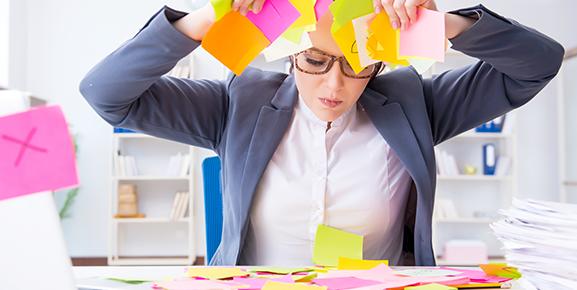 A inexistência de processos definidos causando problemas na rotina de uma funcionária