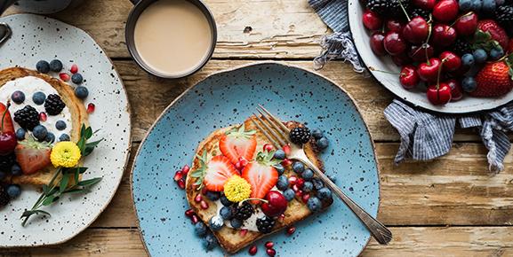 Uma alimentação nutritiva no café da manhã pode render produtividade no seu dia